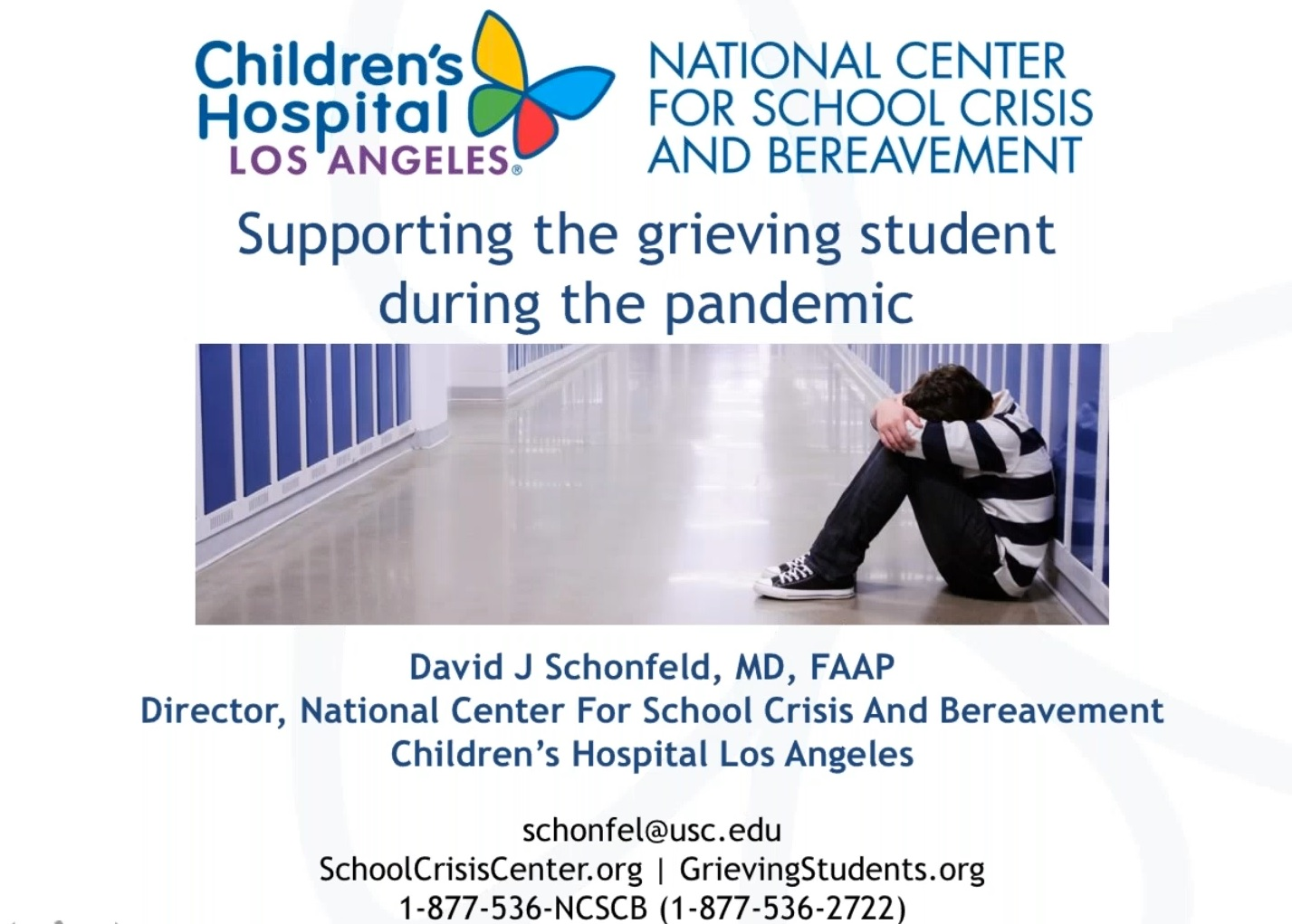 Supporting the Grieving Student During the Pandemic webinar